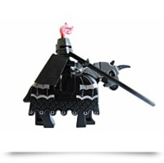 Kingdom Dark Knight Minifigure With Armored