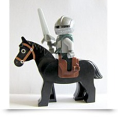 Sir Kentis On Black Horse Knights Kingdom